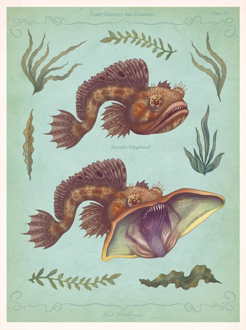 Crazy Monster Sea Creatures Illustrations by VLAD stankovic 04