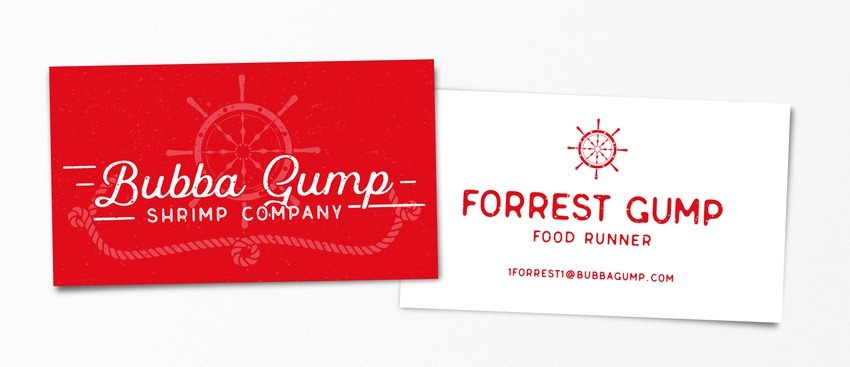 Forrest Gump pop-culture-business-card-01