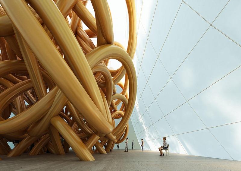 Cyril Lancelin Knot Art Installation