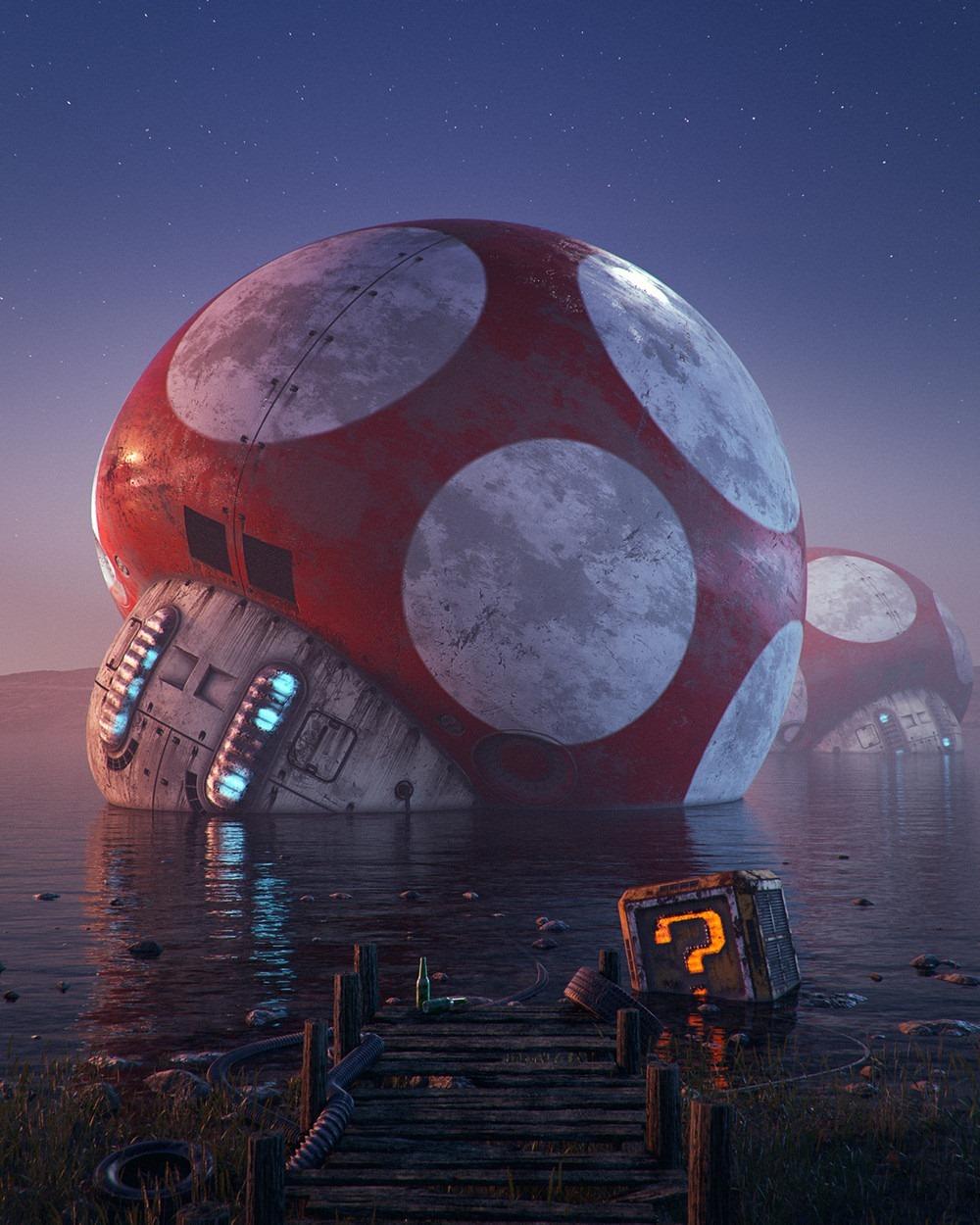 Mushroom Super Mario Bros. Pop Culture Dystopia Filip Hodas