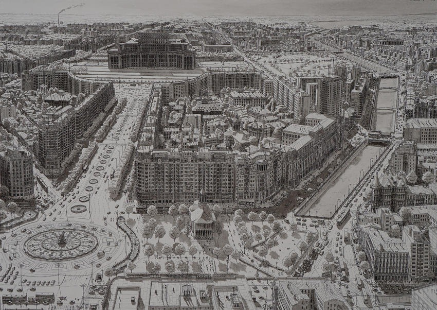 Stefan Bleekrode Cityscapes from Memory bucuresti
