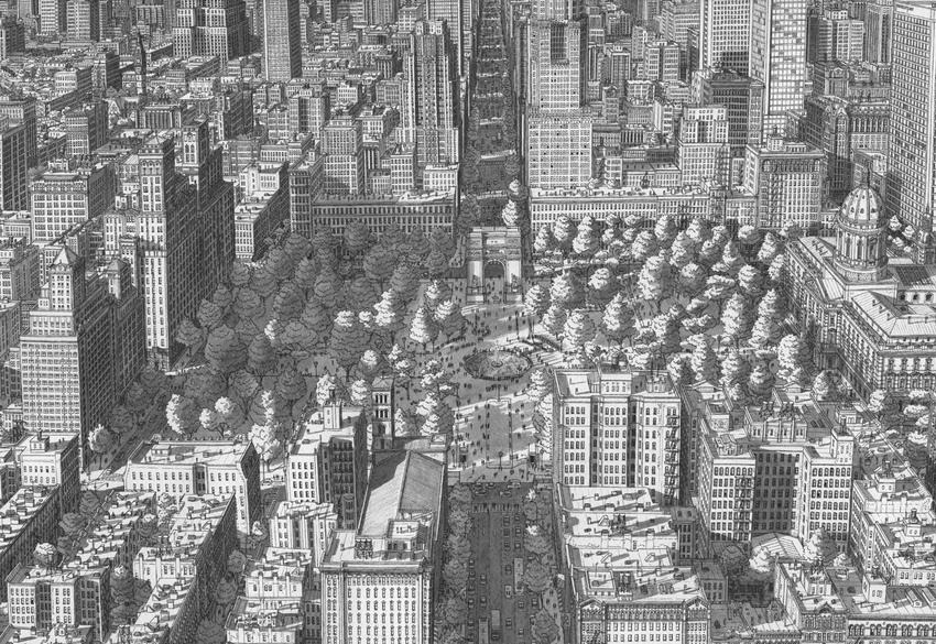 Stefan Bleekrode Cityscapes from Memory washington-square