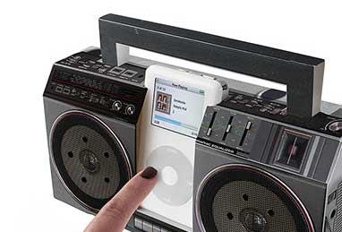 Cardboard Boombox for iPod