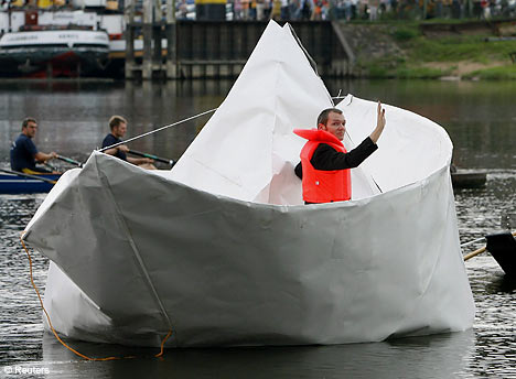 Paper Boat Installation Art From Germany
