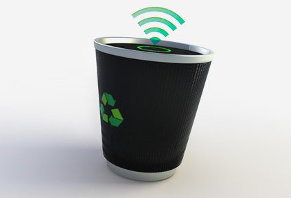 Tempo Wireless Trash Can from Cagina Design