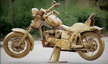 Wooden Harley Davidson Bike