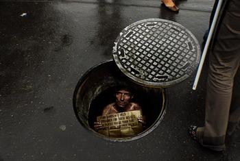 Amnesty International Manhole Cover Ad