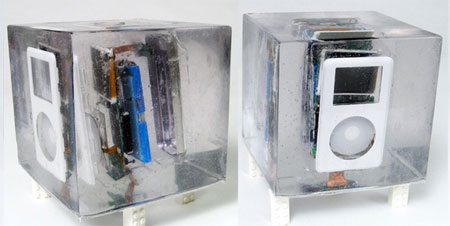 Exploded ipod in Resin