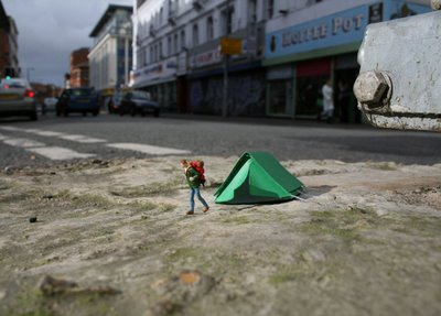 Little People - Tiny Street Art Project by Slinkachu