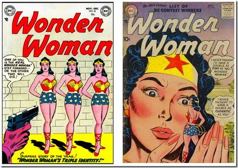 Wonder Woman And The Doubles – Retro Comic Book Covers