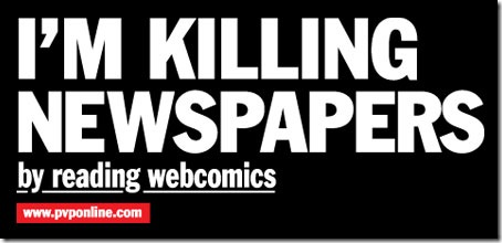 Killing_Newspapers_By_Reading_Webcomics_T_Shirt