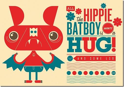 Hippie-Batboy-Illustration-Richard-Perez