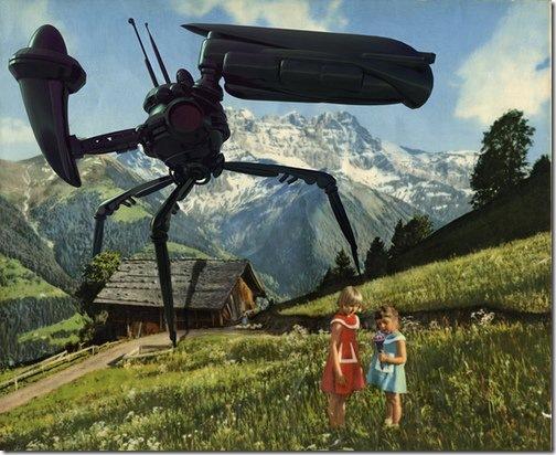 When Aliens Invade Vintage Postcards