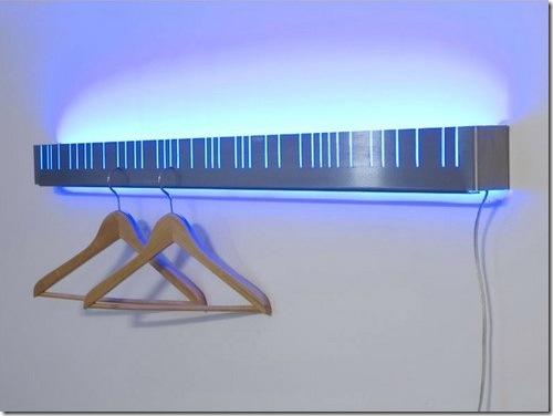 Illuminated Coat Rack From Mocha