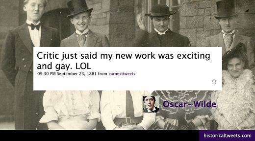 A Tweet From Oscar Wilde