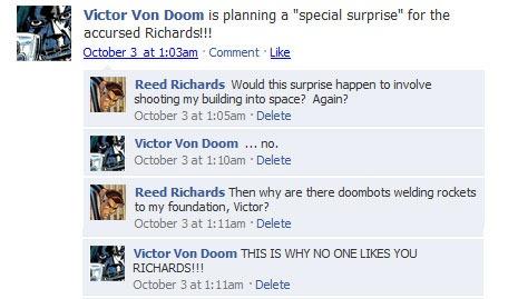 Fake Superhero Facebook Feeds