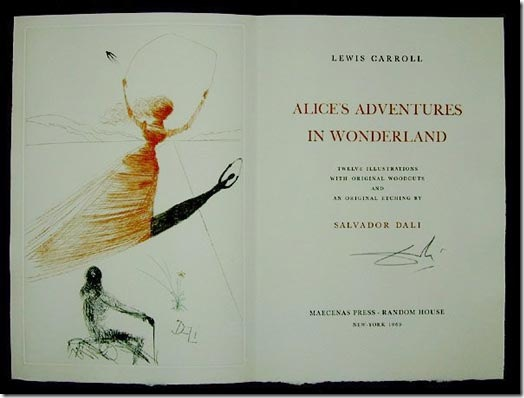 Alice in Wonderland – Illustrated By Salvador Dali