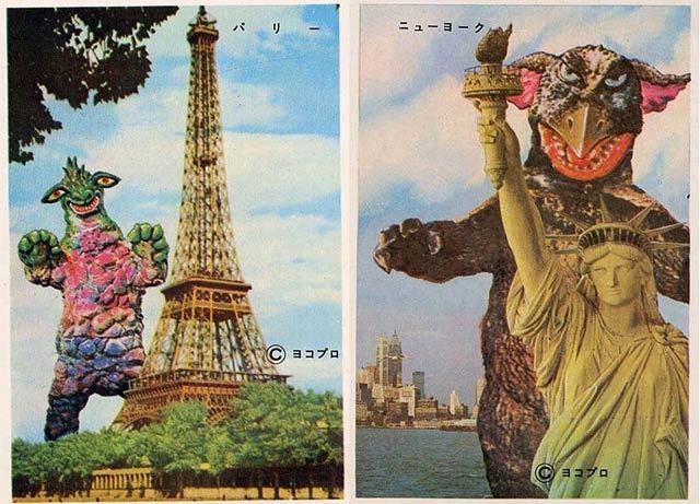 Vintage Postcards of Japanese Monsters