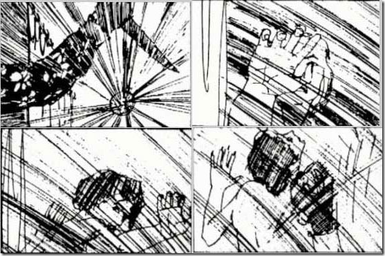Psycho – Original Shower Scene Storyboard By Saul Bass