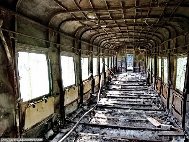Russian Train Cemetery