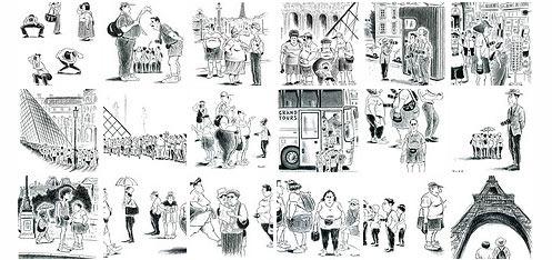 Tourists_in_Paris_Illustrations