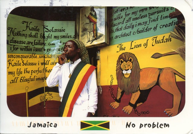 Postcard of a Rastafarian From Jamaica