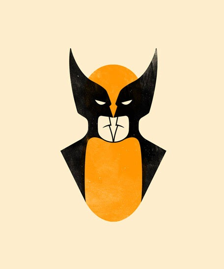 'Wolverine Batman' by Olly Moss