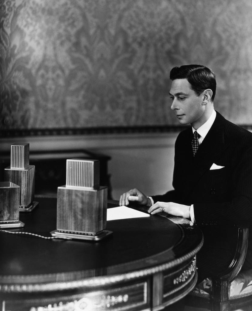 King George VI at the Microphone
