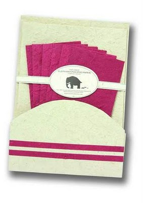 Recycled Paper Made from Elephant Poo