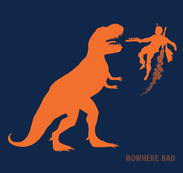 Boba Fett Fighting a T.Rex