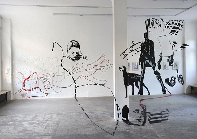 Joerg Mandernach's Amazing Tape Art Installation