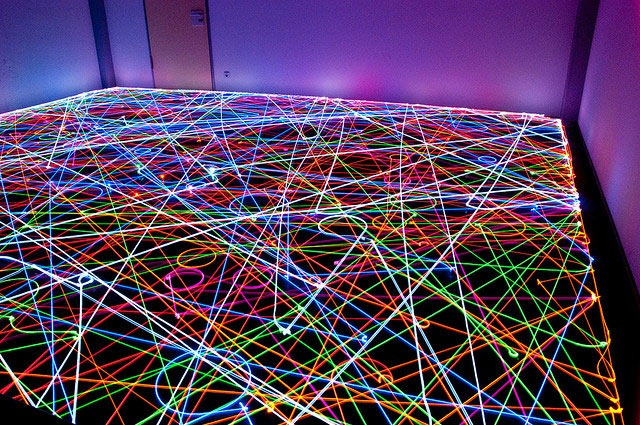 Psychedelic Roomba Swarm
