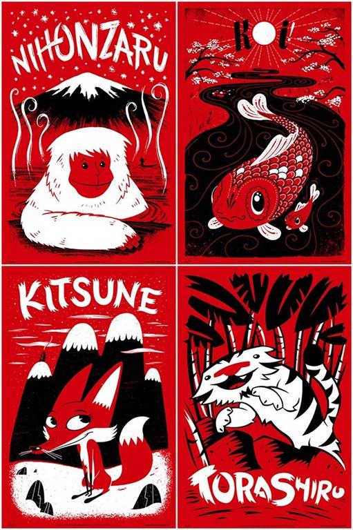 Fauna Friends – Japanimals Poster Series