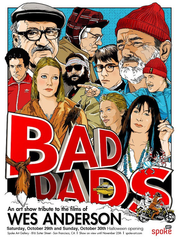 Art From Bad Dads II – A Tribute To The Films of Wes Anderson