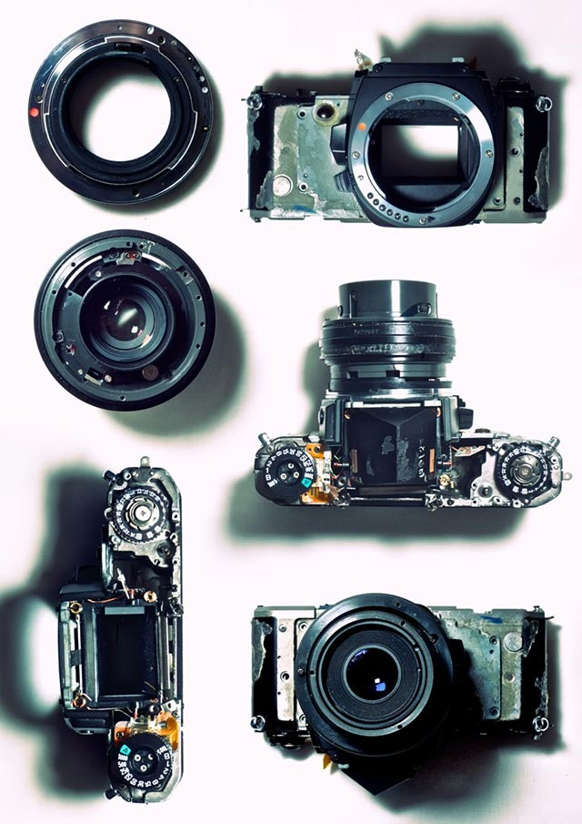 Disassembled Camera