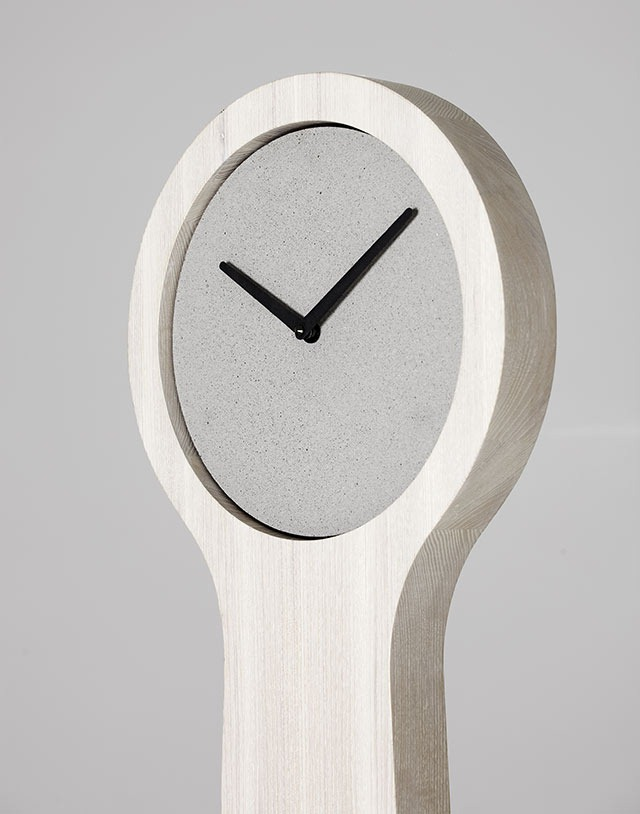 Minimalistic Concrete Clocks and Sculptures By Forsberg Form