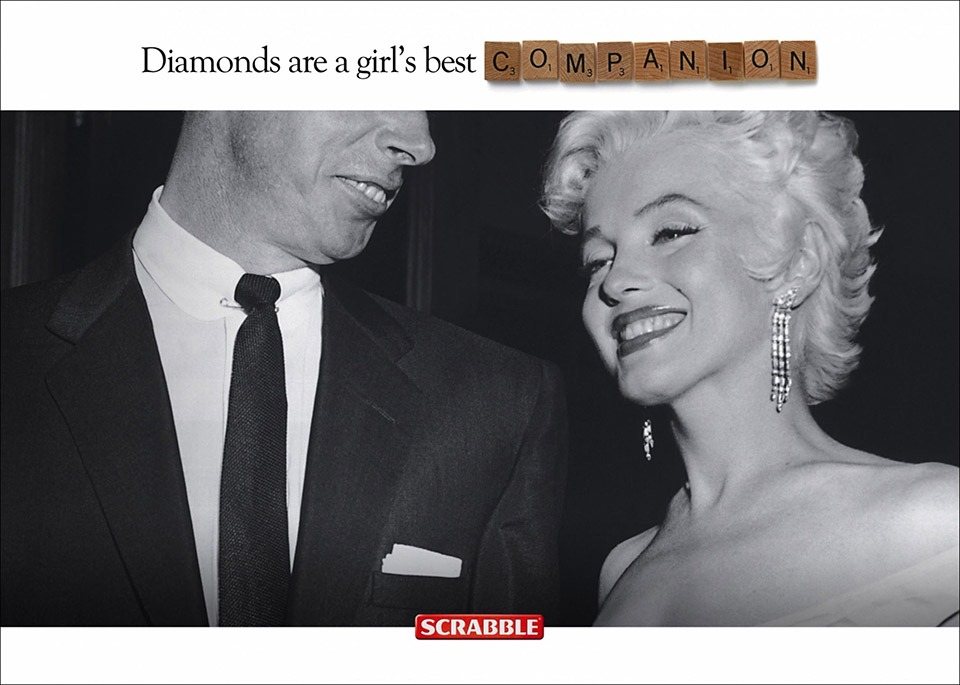 Diamonds Are A Girl's Best Companion – Scrabble Ad