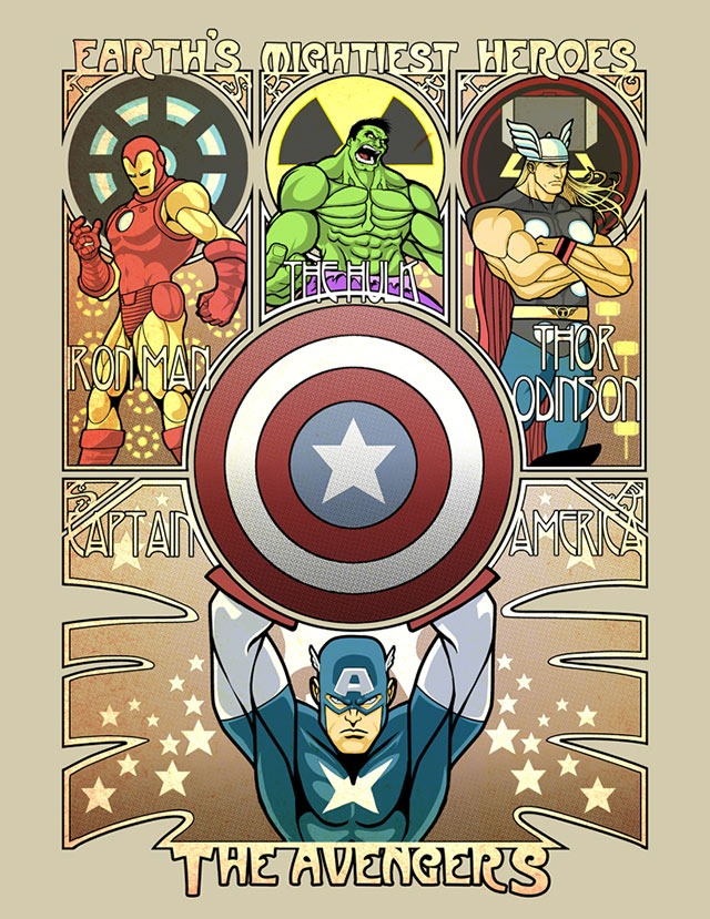 The-Avengers-Art-Noveau