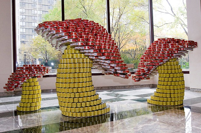 Giant Sculptures Made From Food Cans