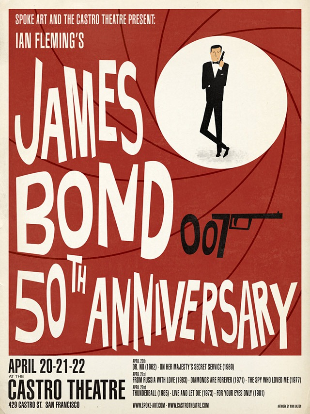 James Bond 50th Anniversary Prints by Max Dalton