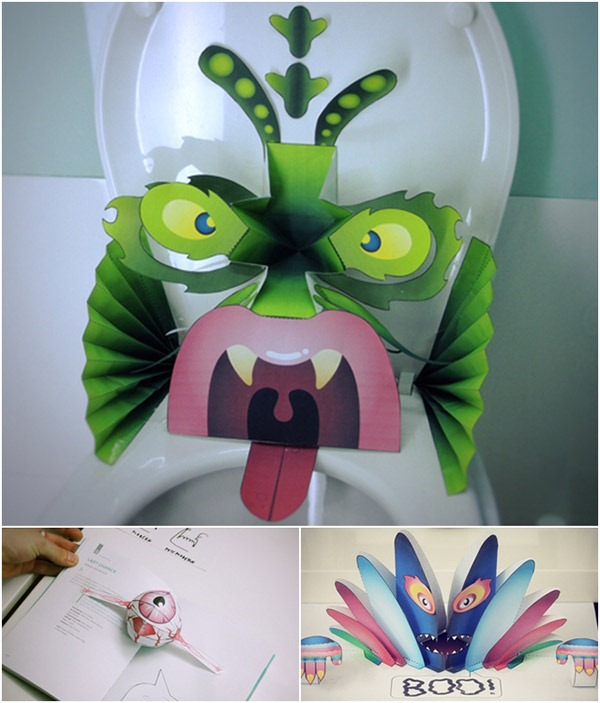 "DIY Pop-up Monsters From ""Waste"""