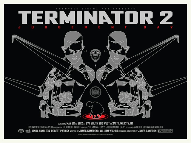"""Terminator 2"" Movie Posters by Gold Sauce"