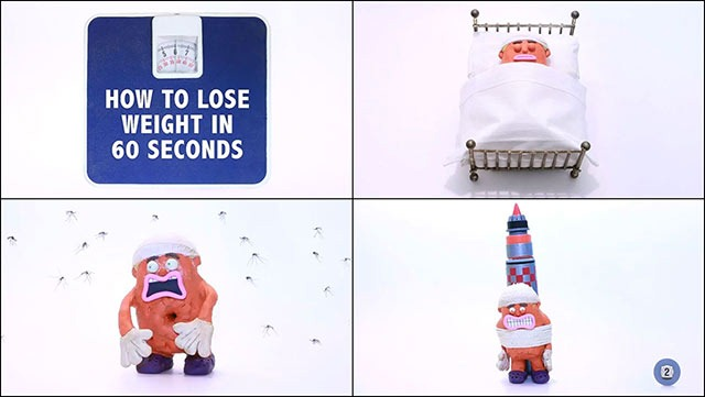 Claymation Short Shows You How to Lose Weight in 60 Seconds