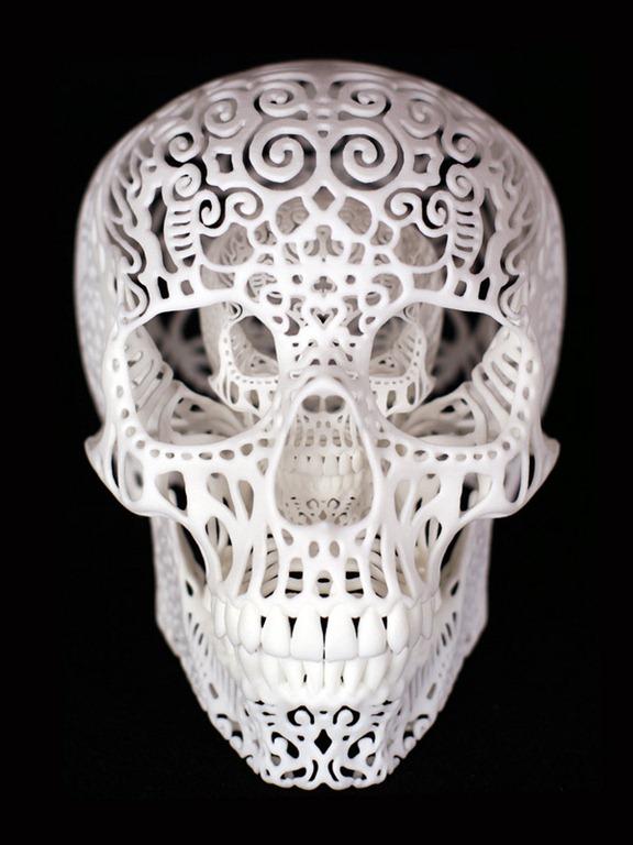 Joshua Harker's Stunning Filigreed Skulls
