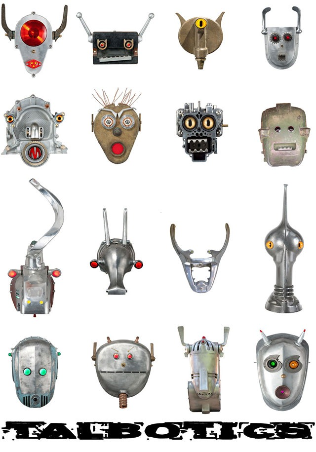 Tal Avitzur's Robot Heads Made From Retro Junk