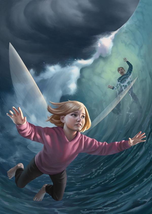 Ture-Ekroos-Cover-illustration-for-the-book-Ella-Aura-ja-Kolmastoista-Haltia -Client-WSOY
