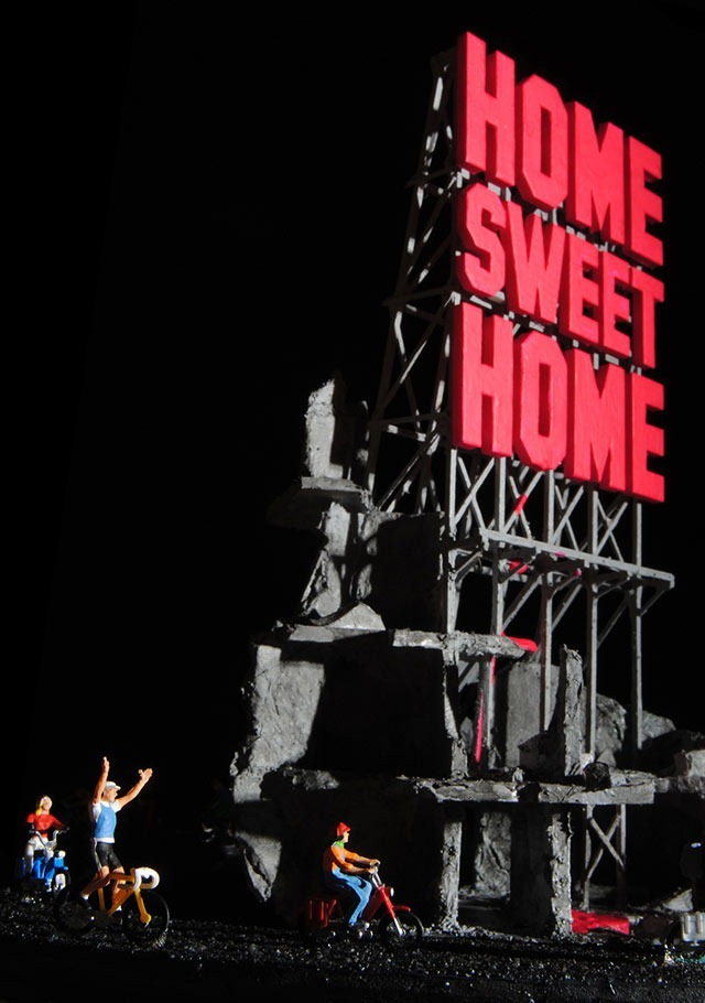 Home Sweet Home: A Satirical Diorama Sculpture by  Greek Artist Polychroniadis
