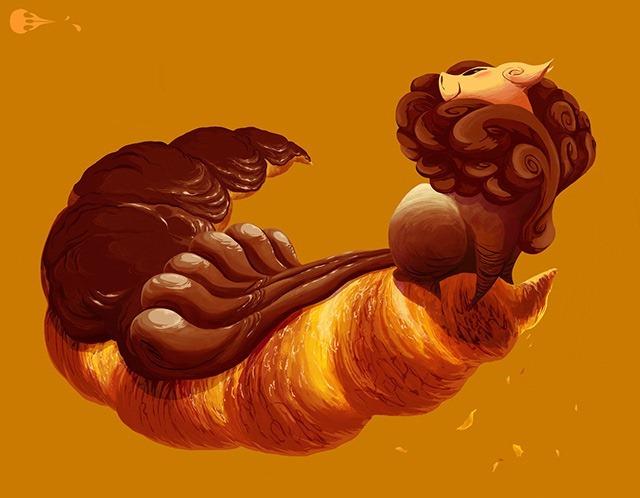 Chocolate&Hazelnut---Condiment-creatures-by-Imogen-Scoppie