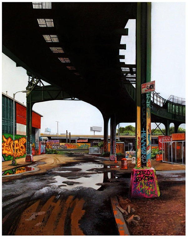 Davis Street I – A Photorealistic Painting by Jessica Hess