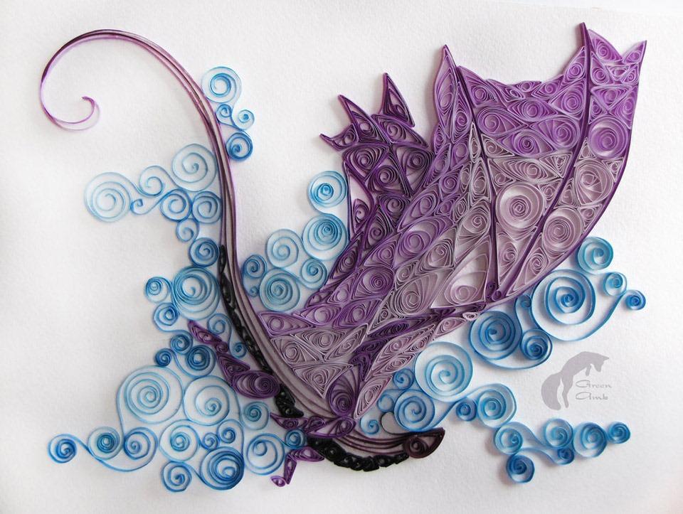 Incredible Folded Paper Art Dragon